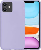 iPhone 11 Hoesje Siliconen Case Hoes Back Cover TPU - Lila