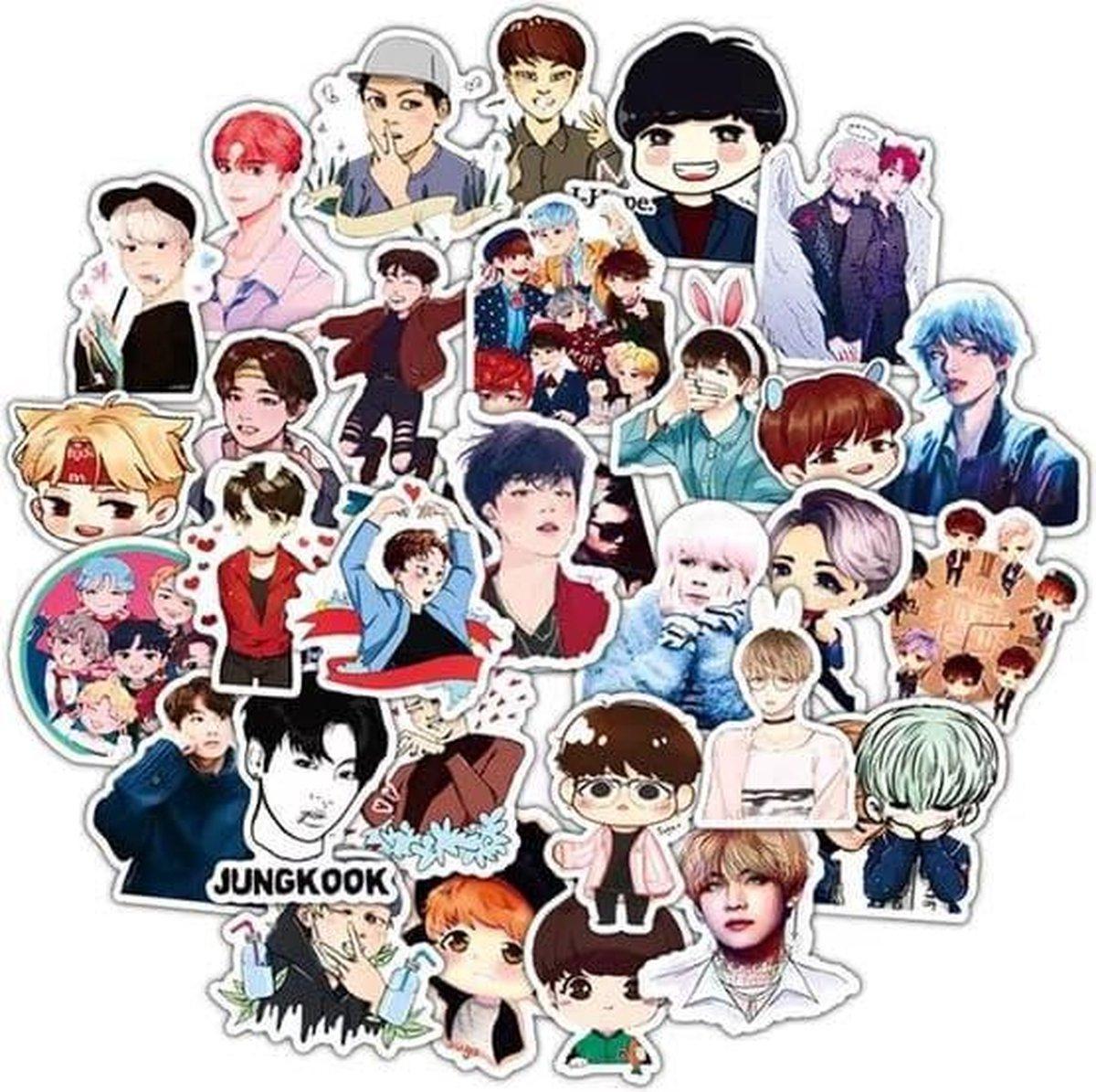 BTS | sticker set | vinyl stickers | 50 stuks