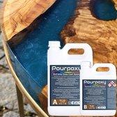 Dikke lagen Epoxy giethars | 1,5 KG | Pourpoxy | Crystal Clear | Epoxyhars | bevat UV blocker | Tot wel 10CM gieten |