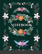 Notebook - Green and Pink Floral