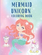 Mermaid Unicorn Coloring Book
