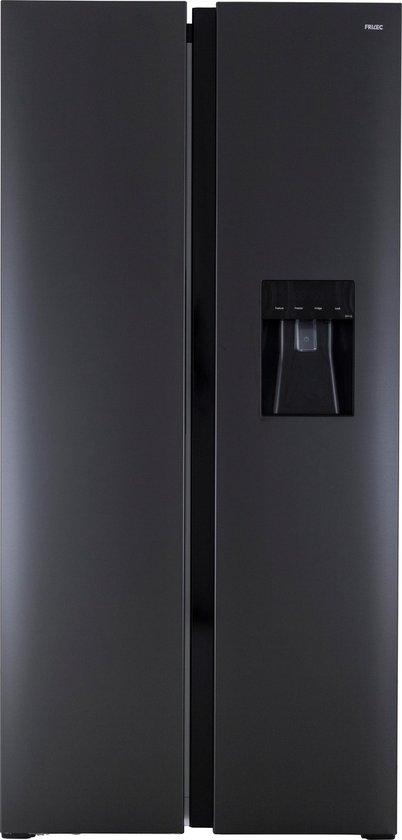 Amerikaanse koelkast: Frilec RW015-WS-200EDI - Amerikaanse koelkast - Zwart, van het merk Frilec