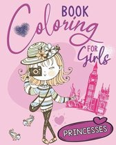 Coloring Book for Girls: Princesses
