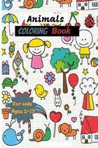 Animals Coloring Book for kids Ages 2-13