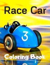 Race Car Coloring Book