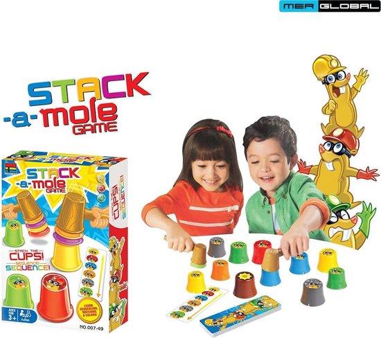 Afbeelding van het spel Stack-A-Mole Game - Spelletjes voor Kinderen - Stapelspel op Tijd - Educatief Spelletje - Spel voor Kerst