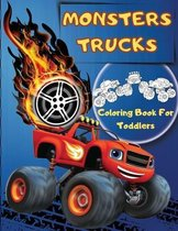 Monsters Trucks Coloring Books For Toddlers