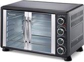 TurboTronic TT-EV55 - RVS Elektrische Oven 55 Liter - 2200W - met Franse deuren - Zwart