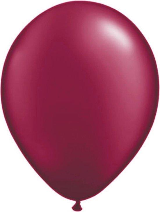 Folat Ballonnen 28 Cm Latex Bordeaux Rood 100 Stuks
