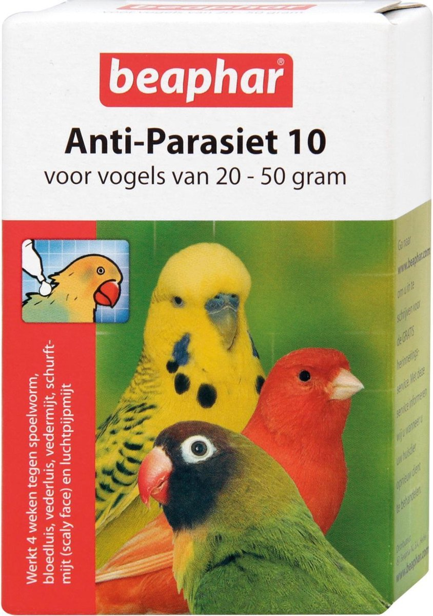 Beaphar Anti-Parasiet 10 - Vogel 20-50 gr