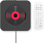 CD-Speler Draagbare met Bluetooth - 5 in 1 Aan de wand Monteerbare CD-speler - Veilig voor kinderen - Zwart