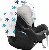 Dooky Hoody Autostoel Zonnekap - Blue Stars
