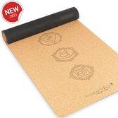 Positive Things Yoga mat – 100% Natuurvriendelijke Kurk Yoga mat met anti slip – Workout mat - Fitness mat - Trainingsmat