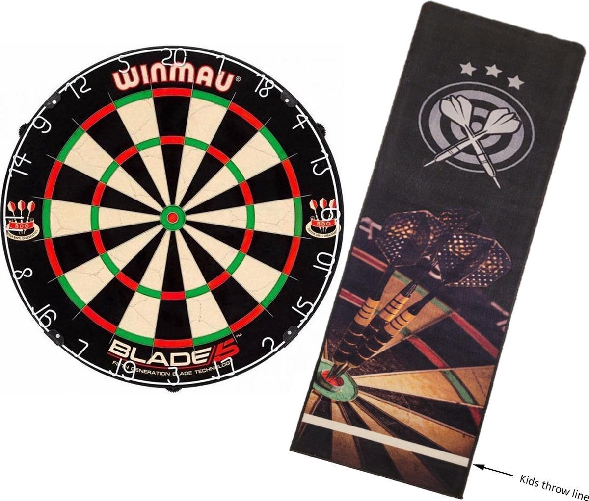 Winmau Blade 5 - dartbord - inclusief Shadow - dartmat