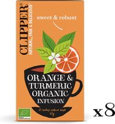Clipper Orange & Turmeric Organic Herb Tea  - 8 x 20 zakjes