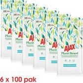 Ajax Plant Based multioppervlakken schoonmaakdoekjes 6 x 100 pak