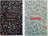 Opening + Een nieuw Pand - 2 Wenskaarten – 12 x 17 cm