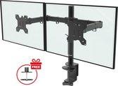 Douxe DXM2 - Dubbele Monitor arm - Monitor Beugel voor 13-27 Inch - draai- en kantelbare en zwenkbaar - zwart