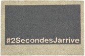 1x Coryl Deurmat Kokos Geek | 2SecondsJarrive Grijs | 60x40cm| Buitenmat Antislip Schoonloopmat Kokosmat