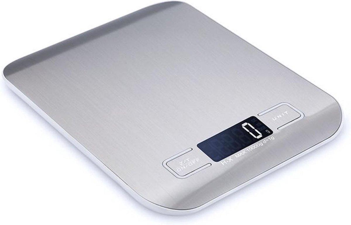 Digitale Precisie Keukenweegschaal - Tot 5000 gram (5kg) - RVS