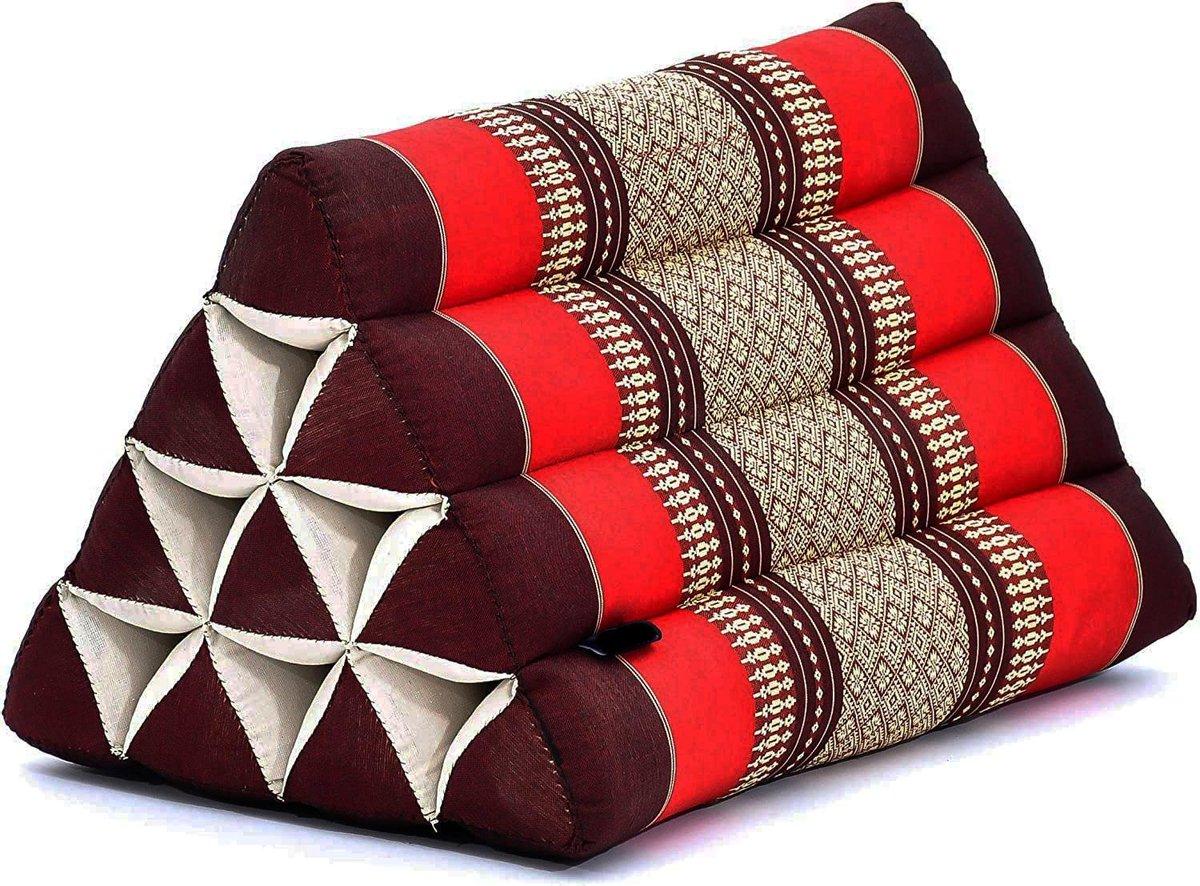 Driehoek kussen - Driehoekskussen - Thais kussen - Rug en steunkussen - Burgundy rood