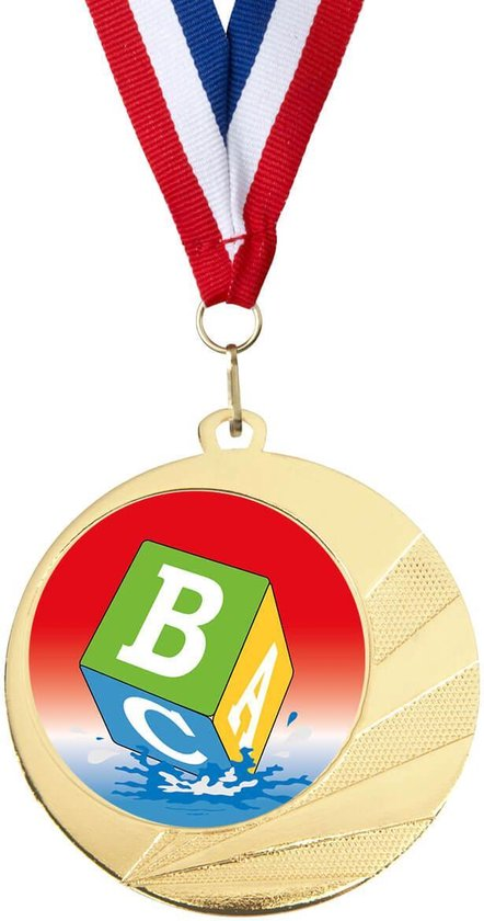 Medaille zwemdiploma B / cadeau zwemdiploma B
