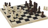 CHESS/BACKGAMMON IN FOLDABLE CASE - KING 60 MM