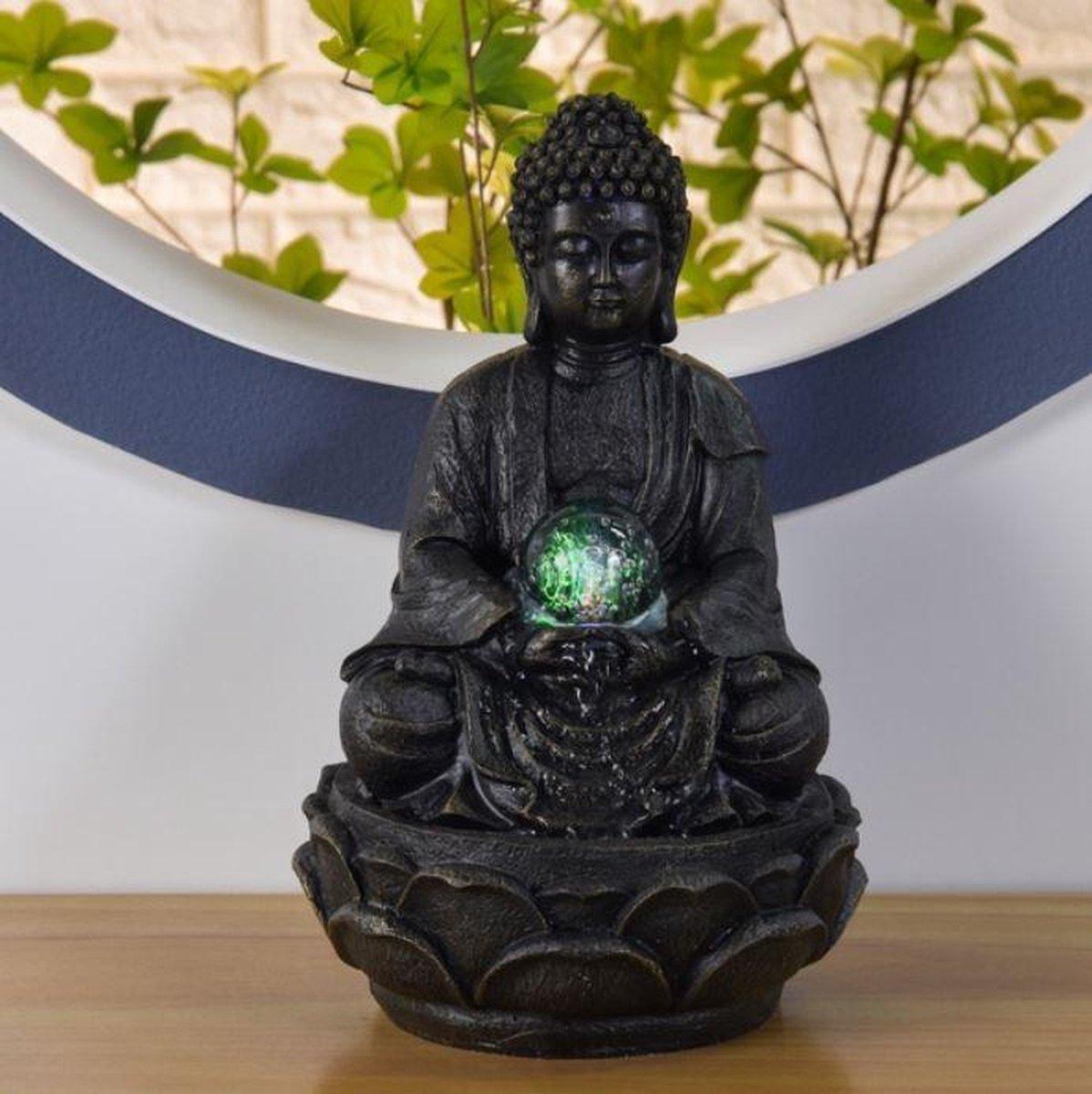 Grand Boeddha Méditation - fontein -interieur - fontein voor binnen - relaxeer - zen - waterornament - cadeau - geschenk - relatiegeschenk - origineel - lente - zomer - lentecollectie - zomercollectie - afkoeling - koelte