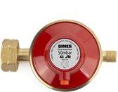 Gimeg Uni.reg.1/4 inch links - drukregelaars los - rood