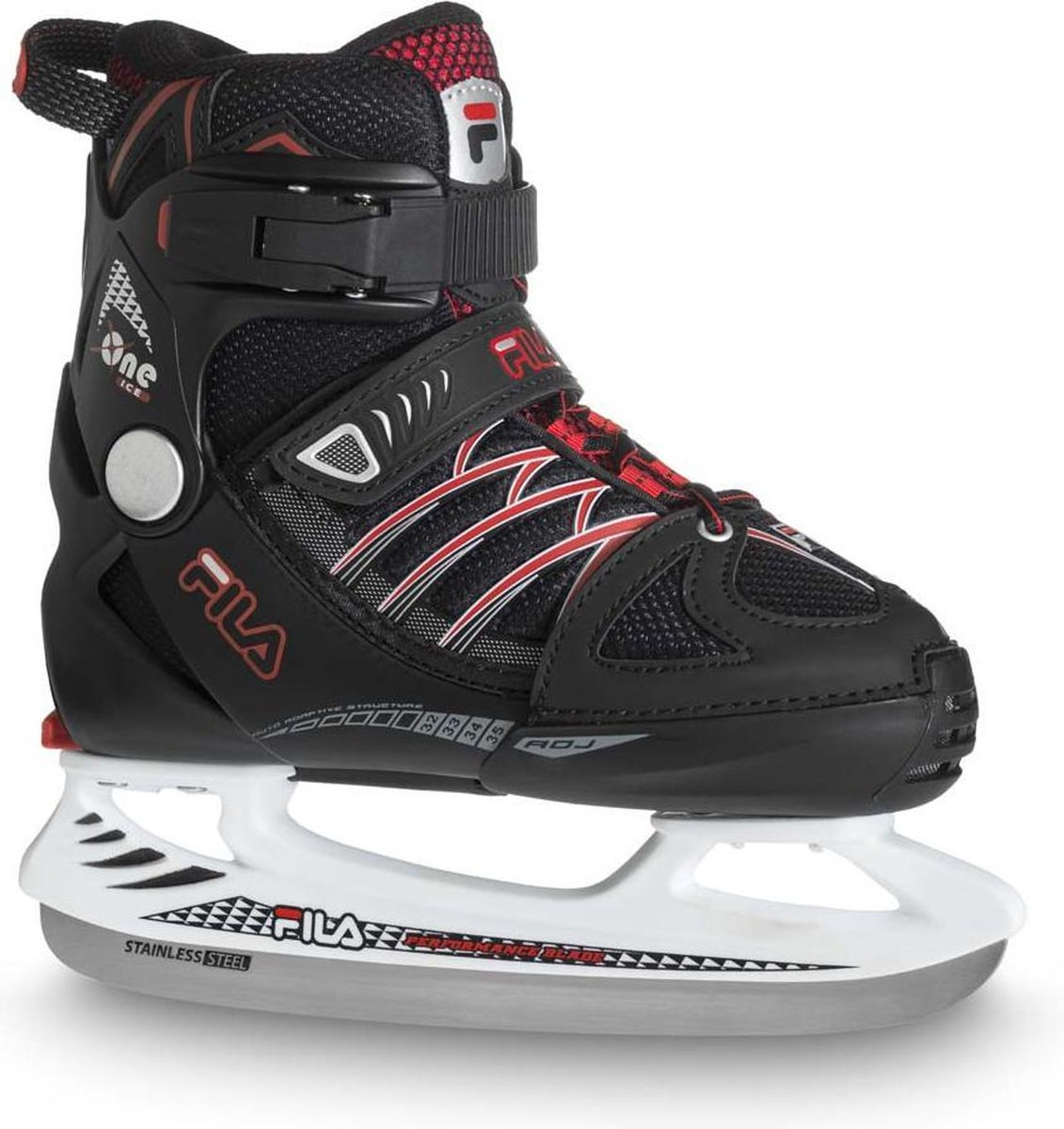 Fila - X-one ice 20 boy- Schaatsen voor kinderen - Maat 29-32 - Rood - IJshockeyschaats voor kinderen