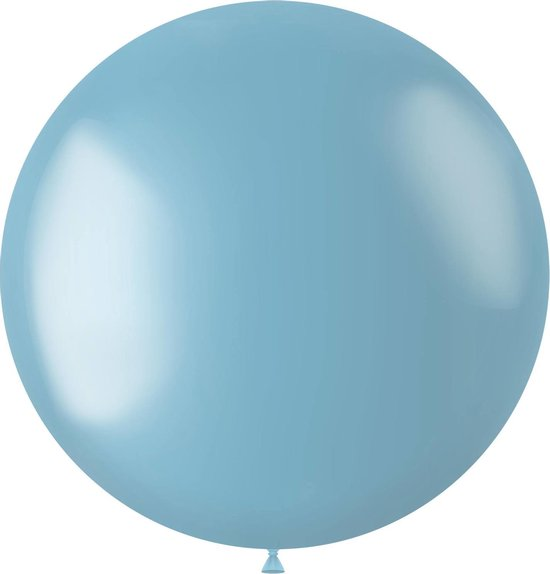 Lichtblauwe Ballon Metallic Sky Blue 80cm