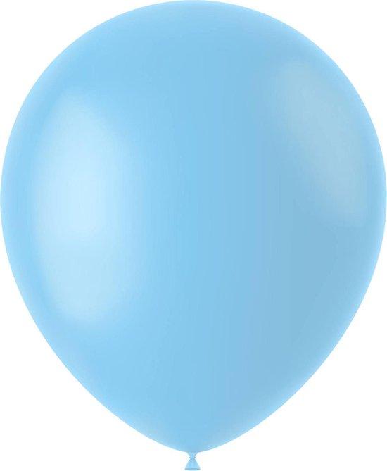 Lichtblauwe Ballonnen Powder Blue 33cm 50st