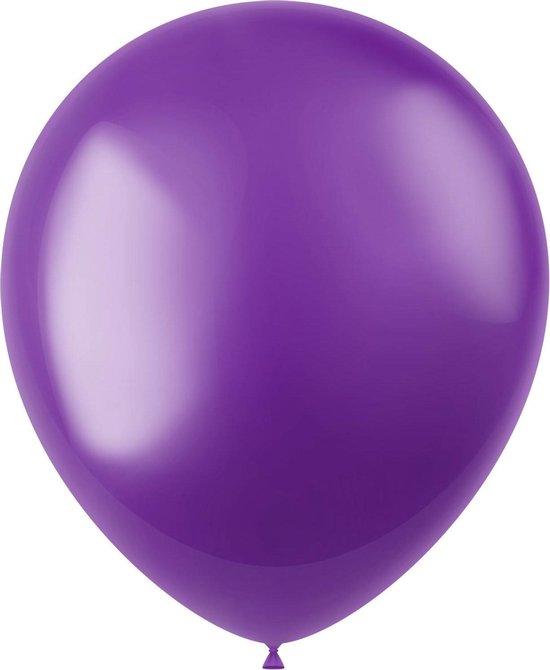 Paarse Ballonnen Metallic Violet Purple 33cm 10st