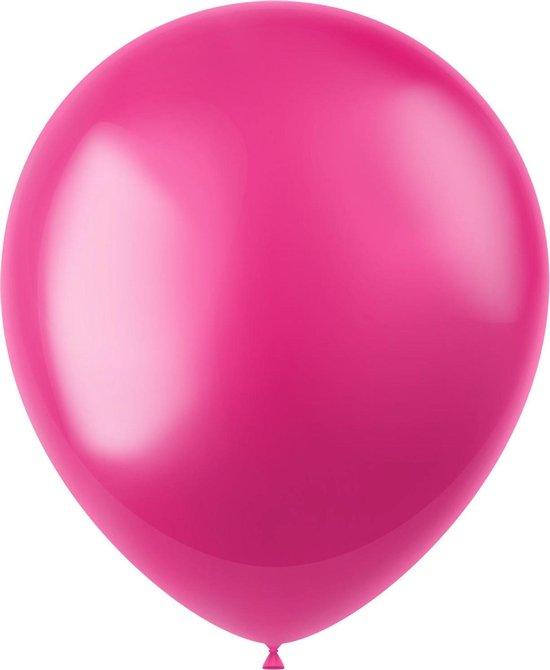 Fuchsia Ballonnen Metallic Fuchsia Pink 33cm 100st