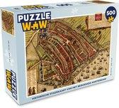 Puzzel 500 stukjes Historische stadskaarten - Historische stadskaart van het beroemde Amsterdam  - PuzzleWow heeft +100000 puzzels