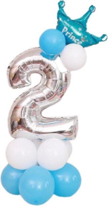 Verjaardag 2 jaar - Ballonnen Set - 2 Jaar Jongen - Feestversiering