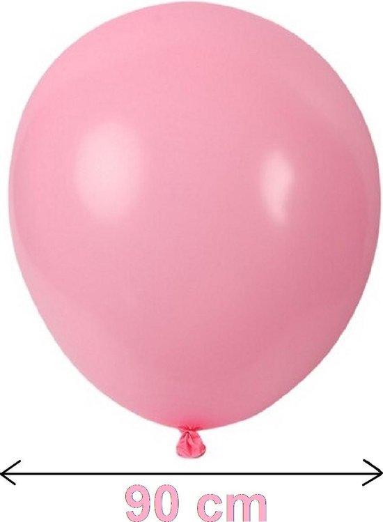 Reuze Ballon - ROZE - Maximaal 90 CM Diameter - Grote Ballon - XXL - Mega Ballon - Feest