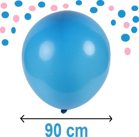 Reuze Ballon - BLAUW - Maximaal 90 CM Diameter - Grote Ballon - XXL - Mega Ballon -  Feest