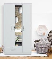 MIRA garderobe 3 deuren en 1 lade - wit decor
