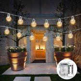 Licht snoer lichtslinger - 20 led lampen op batterij - 6 meter - warm wit - feestverlichting - sfeer lampjes  - afstandbediening - Waterdicht - voor binnen en buiten!