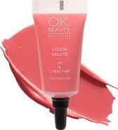 OK Beauty Color Salute Lip n Cheek Tint – Long Lasting Velvet Finish Lip Care & Blush in 6 trendy colors (Marrakech)