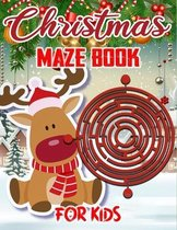 Christmas Maze Book For Kids: Christmas Mazes Activity Coloring Book For Kids Ages 4-8
