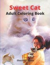 Sweet Cat Adult Coloring book
