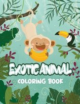 Exotic Animal Coloring Book