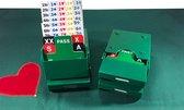 """Bridge """"Super"""" biedbox, complete set van 4 stuks in de kleur groen. Inclusief 100% kunststof biedsetjes."""