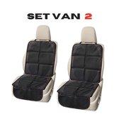GOALDA Autostoel beschermer – Set van 2 – Car seat protector  – Autostoel hoes –  Water bestendig  – Anti slip – Opbergvak  – Baby – 120 cm bij 48 cm - Zwart