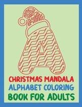 Christmas Mandala Alphabet Coloring Book for adults