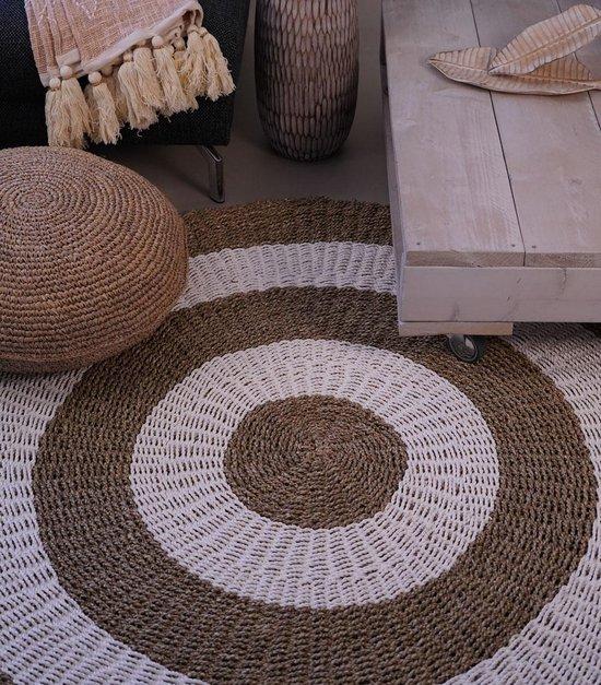 Nusa Originals - Vloerkleed Natural (150cm) - Bohemien Stijl - Seagrass & Raffia - Fairtrade