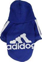 Adidog Hoodie - Hondentrui Maat XL - Blauw - Hondenkleding - Gewicht Hond 3 tot 5 KG