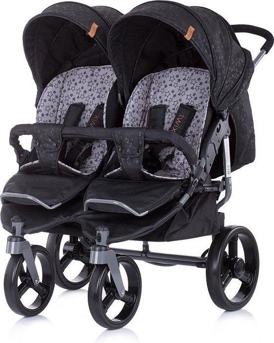 Duo Kinderwagen 0+ new borns Chipolino Twix zwart onyx